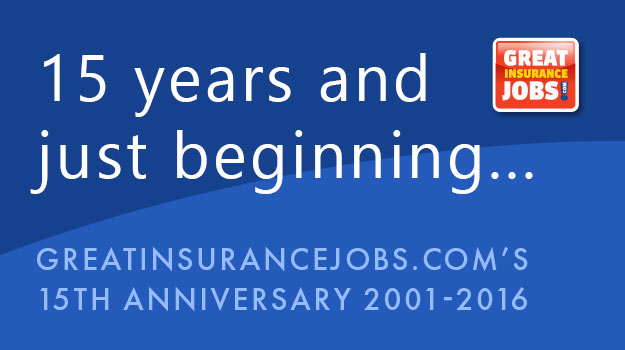 GreatInsuranceJobs.com Turns 15 Years Old Thanks to the Insurance Community